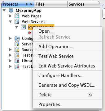 create web service client from wsdl in netbeans